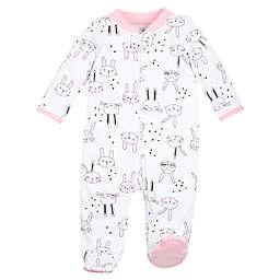 Lamaze® Bunny Sleep n Play Footie in White/Pink