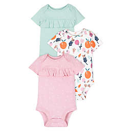 Lamaze® Size 18M Super Combed Natural Cotton 3 Pack Short Sleeve Bodysuit in Pink/Mint