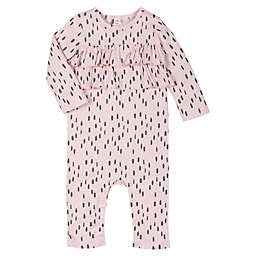 Lamaze® Size 18M Super Combed Natural Cotton Grey Slash Long Sleeve Romper in Pink