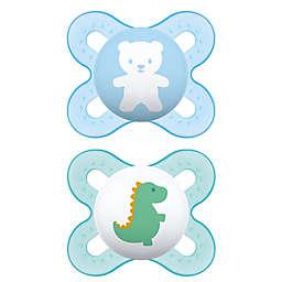 MAM Start Size Newborn to 2 Months Pacifier in Blue/Green (2-Pack)