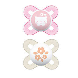 MAM Start Tender 2-Pack Pacifiers in Pink/Clear