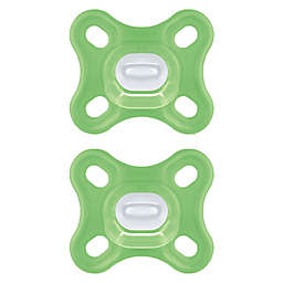 MAM Comfort Design Collection ™ 0-4 Months Unisex Pacifiers in Green (Set of 2)