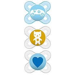 MAM Start Newborn 0-6M 3-Pack Pacifiers in Blue