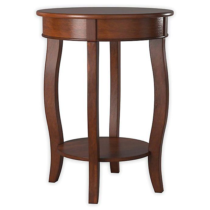 Alternate image 1 for Powell Round End Table in Dark Hazelnut