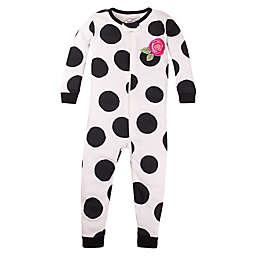 Lamaze® Size 12M Dot Super Combed Cotton Footless Pajama in Cream/Black