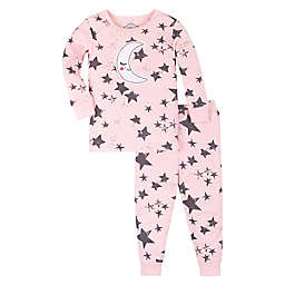 Lamaze® 2-Piece Stars Super Combed Cotton Tight Fitting Pajama Set in Pink