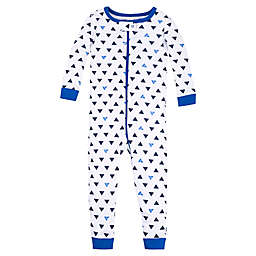 Lamaze® Size 12M Triangle Super Combed Natural Cotton Footless Stretchy in Blue