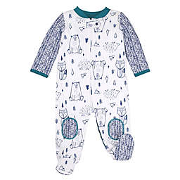 Lamaze® Size 9M Woodland Super Combed Natural Cotton Footed Sleep 'n Play in Green/Ivory