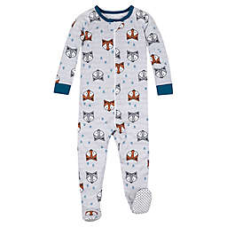 Lamaze® Size 12M Fox Super Combed Natural Cotton Long Sleeve Footed Stretchy in Grey