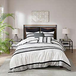 INK+IVY Cole 3-Piece Full/Queen Comforter Set in Black/White