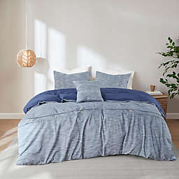 Clean Spaces Dover Organic Cotton Oversized Comforter Cover Set