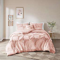 Madison Park Colette 4-Piece Full/Queen Comforter Set in Blush