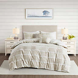Madison Park® Schafer Cotton Clipped 5-Piece Full/Queen Comforter Set in Taupe