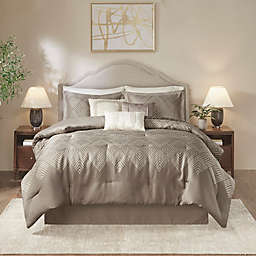 Madison Park Interval Jacquard 7-Piece California King Comforter Set in Gray