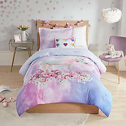 Mi Zone Kids 3-Piece Reversible Annabelle Unicorn Twin Comforter Set in Purple