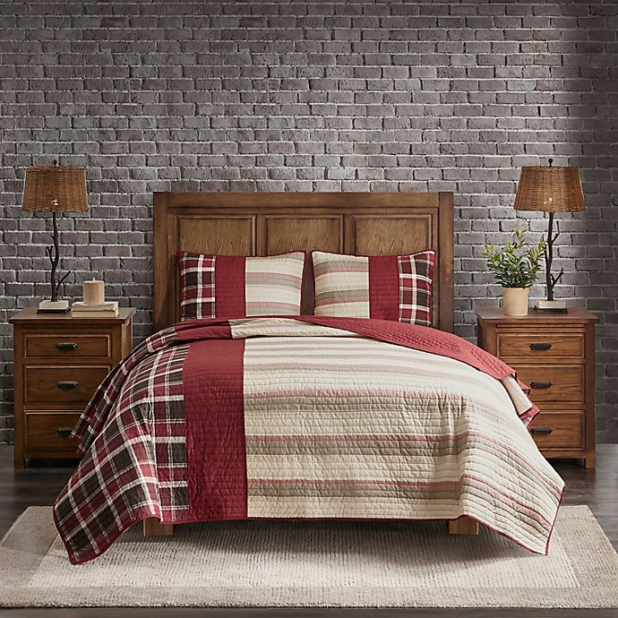 Alternate image 1 for Woolrich Valley 3-Piece King/California King Quilt Mini Set in Red