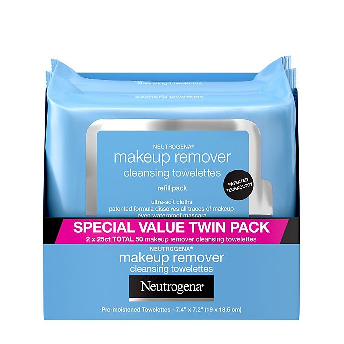 Alternate image 1 for Neutrogena® 50-Count Makeup Remover Cleansing Towelettes 2-Pack