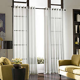 Curtainworks© Soho Voile 84-Inch Grommet Window Curtain Panel in Winter White