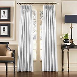 Curtainworks Marquee Pinch Pleat Back Tab Room Darkening Window Curtain Panel in White