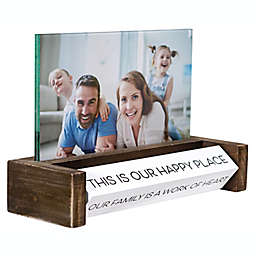 """Malden® 4-Inch x 6-Inch """"Our Family"""" Picture Frame in Walnut"""