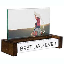 Malden® Best Dad Ever 4-Inch x 6-Inch Spin Quote Photo Frame in Walnut