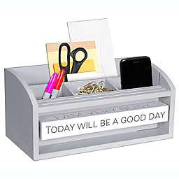 Malden® 11-Inch x 6-Inch Spin Quote Desktop Organizer in Grey