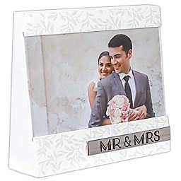 Malden® Mr. & Mrs. 4-inch x 6-Inch Wedge Frame in White