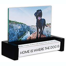 Malden® Dog 4-Inch x 6-Inch Spin Quote Photo Frame in Walnut