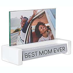 Malden® Best Mom Ever 4-Inch x 6-Inch Spin Quote Photo Frame in Walnut