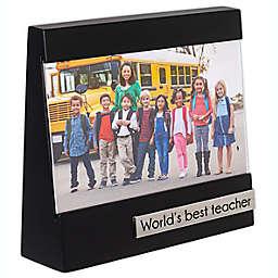 Malden® World's Best Teacher 4-inch x 6-Inch Wedge Frame in Black