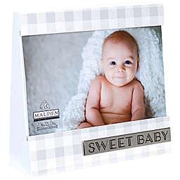 Malden® Sweet Baby 4-inch x 6-Inch Wedge Frame in Gingham