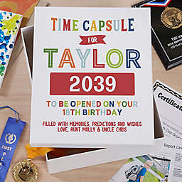 1st Birthday Personalized Baby Keepsake 8-Inch x 10-Inch Memory Box
