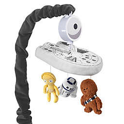 Lambs & Ivy® Star Wars Millennium Falcon Musical Crib Mobile in Grey