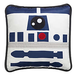 Lambs & Ivy® Star Wars Signature R2D2 Square Throw Pillow in White