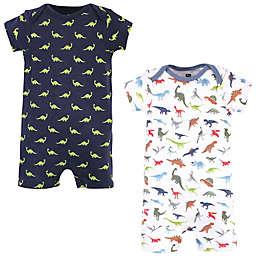 Hudson Baby® 2-Pack Short Sleeve Dino Rompers