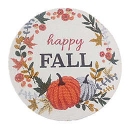 Happy Fall Braided Round Placemat