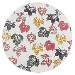 Stamped Leaf Braided Round Placemat