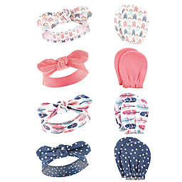 Hudson Baby® 8-Piece Headband and Scratch Mitten Set in Feathers