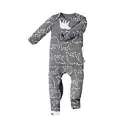 günamüna Romper/Footie Convertible Pajama in Grey Bears