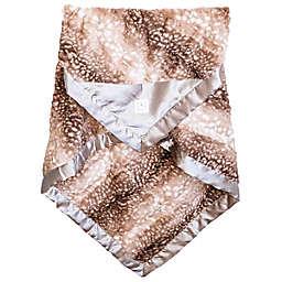 Zalamoon Plush Strollet Blanket with Satin Trim in Fawn
