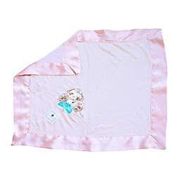Zalamoon  3 Piece Blanket Gift Set in Mauve