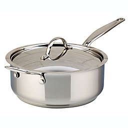 Meyer Confederation 4.2 qt. Stainless Steel Covered Saute Pan with Helper Handle