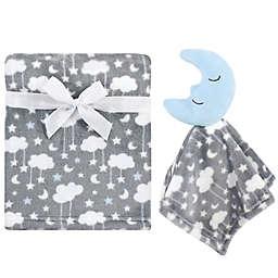 Hudson Baby® 2-Piece Moon Plush Security Blanket Set