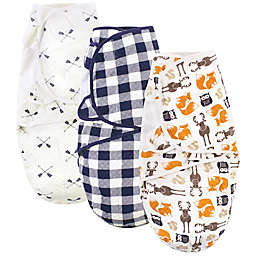 Hudson Baby® 3-Pack Boy Quilted Cotton Swaddle Wraps in Orange