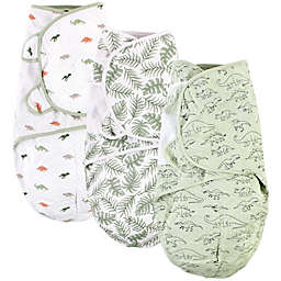 Hudson Baby® 3-Pack Dinosaur Quilted Cotton Swaddle Wraps in Green