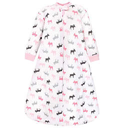 Hudson Baby® Size 18-24M Moose Quilted Long Sleeve Wearable Blanket in Pink