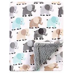 Luvable Friends® Elephant Mink/Sherpa Plush Blanket in Grey