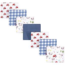 Hudson Baby® 7-Pack Boy Farm Cotton Flannel Receiving Blankets Bundle in Blue