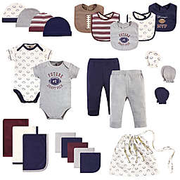 Hudson Baby® Size 0-6M 25-Piece Football  Layette Set in Blue