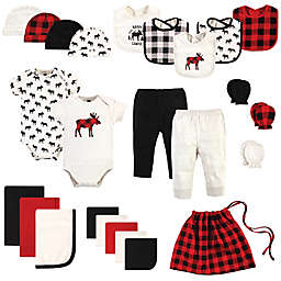 Hudson Baby® Size 0-6M 25-Piece Moose Layette Baby Gift Set in Red